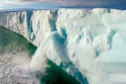 Efecto del calentamiento global sobre glaciares