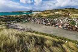 alt=Nuevo término basuraleza para el problema de residuos – Playa con basura