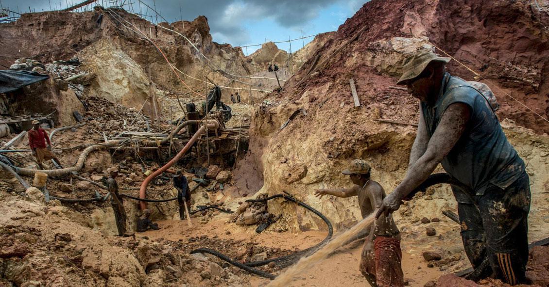 Mineria ilegal y pérdida de bosques en la Amazonía venezolana